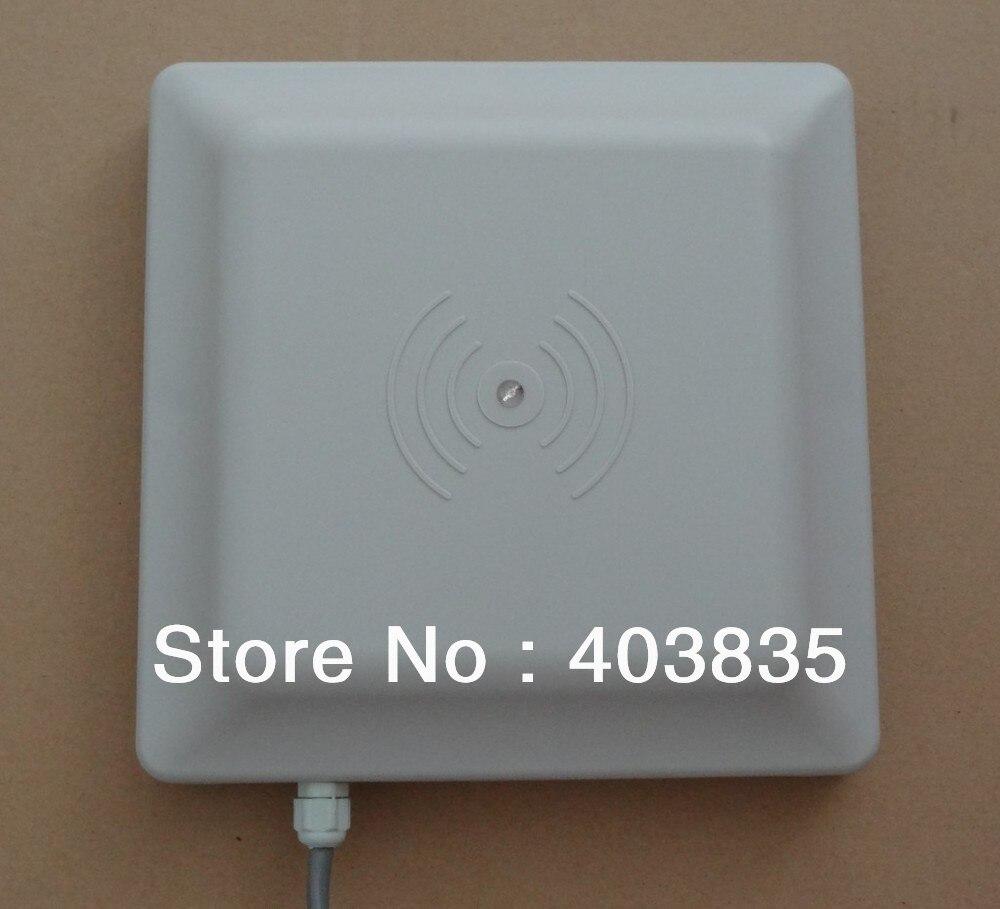 UHF RFID card reader long range, 8dbi Antenna RS232/RS485/Wiegand 26 Reader 1-5M Integrative