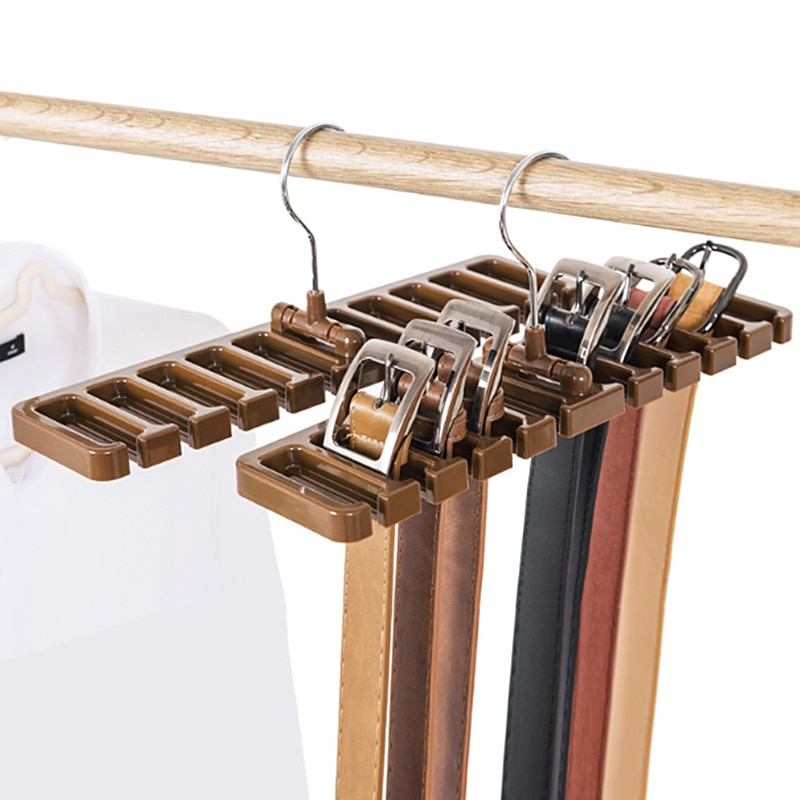 Wonderlife Multifunction Belt Rack Organizer Hanger Holder For Men Closet Belt Tie Storage Rack For Women Scarf