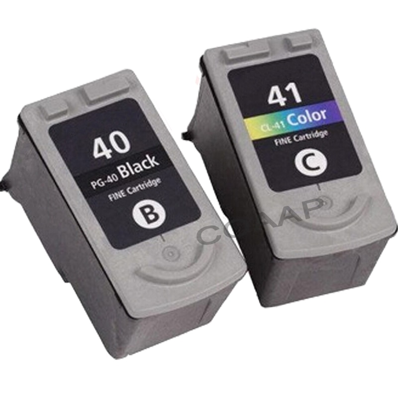 2PK متوافق كانون 40 41 الحبر خرطوشة ل PG40 CL41 الأسود ولون ل PIXMA MP160 MP140 MP450 MX310 IP1600 IP1900 IP6220D