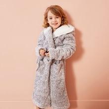 Peignoir enfant Couleur Unie Sweats À Capuche De Bande Dessinée Vêtements De Nuit Pour Filles Serviettes De Bain Enfants Peignoir Doux Pyjama 4-13 ans Vêtements Pour Enfants