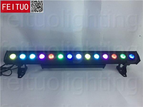 (8 lotes + caja de vuelo) Barra de luz led arandela de pared 14x30w rgb 3 en 1 cob led dmx512 luz de pared led rgb luz led ip65