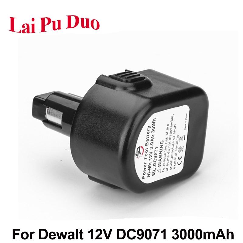 Ni-MH 12V 3000mAh reemplazo de baterías de herramientas eléctricas para Taladro Inalámbrico dewalt DC9071 DE9071 2802K DE9074 DE9075 DC740K DC528