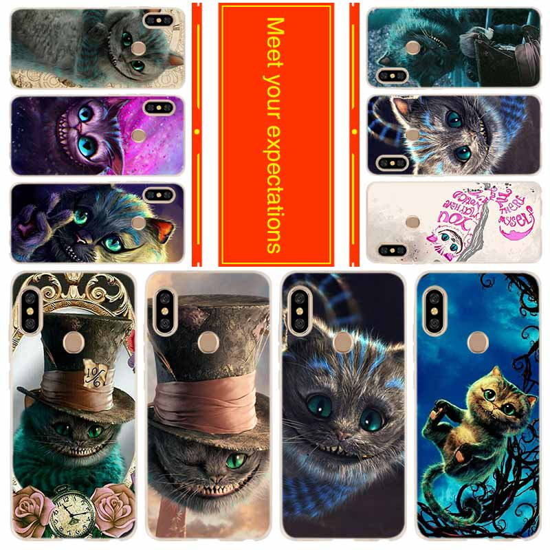Funda de teléfono para Xiaomi Redmi a 7 6a 5a más 4a x 3 Nota 8 7 6 5 9 5a pro 8t cubrir alice mirar a través del cristal, gato de cheshire