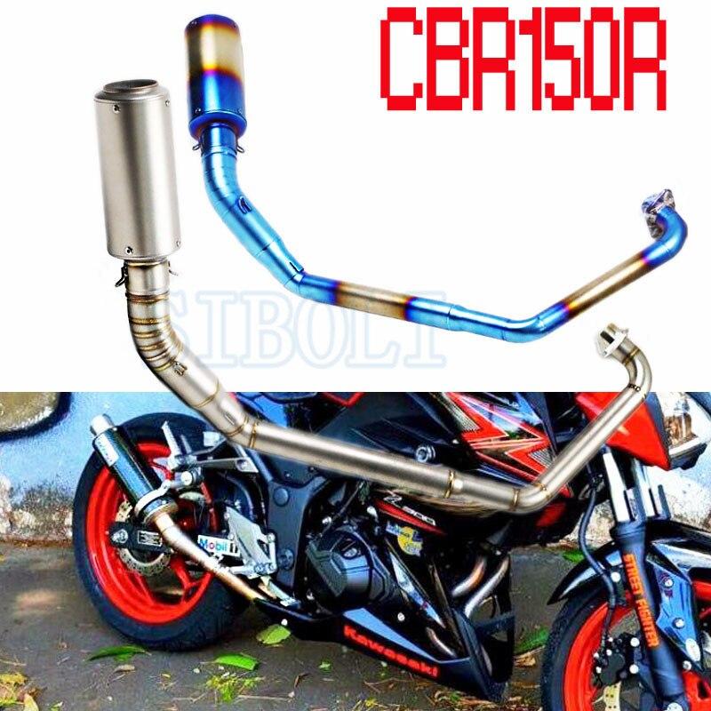 Para HONDA CBR Motocicleta Silenciador Tubo de Escape Moto Sistema De Escape Completo Para Honda CBR150R AK214