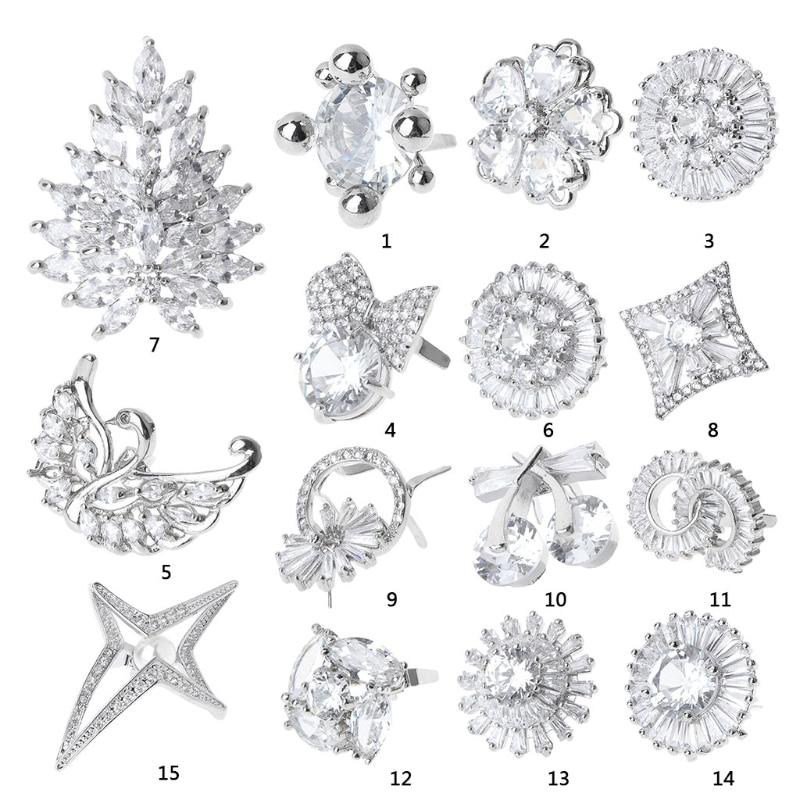 New 1Pc Rhinestone Alloy Glass Shoe Clips Elegant Ornaments Buckle Clamp Shoe Decoration