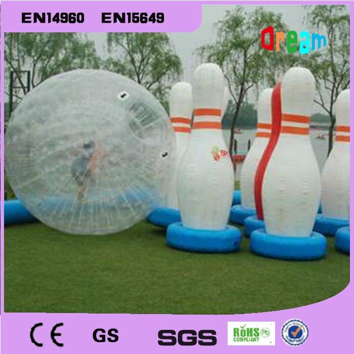 الشحن مجانا 6 قطع الكثير And1 قطعة Zorb الكرة نفخ الإنسان البولينج لعبة Zorb الكرة ل البولينج في الهواء الطلق الإنسان البولينج الرياضة