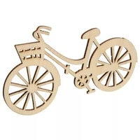 50x wooden bicycles blank wood bike shapes diy woodcraft supplie