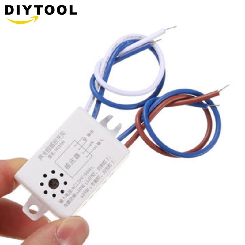 Interruptor fotocélula automática de luz de calle AC 220V 50/60Hz Interruptor de Sensor controlado por luz de sonido