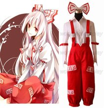Free Shipping Touhou Project Fujiwara no Mokou Cosplay Costume Custom Made for Halloween and Christmas