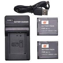 DSTE 2x NB-11L NB-11LH batterie + chargeur USB pour Canon PowerShot A2500 A2600 SX400 IS IXUS 275 HS IXUS 240 IXY 220F IXY 420F