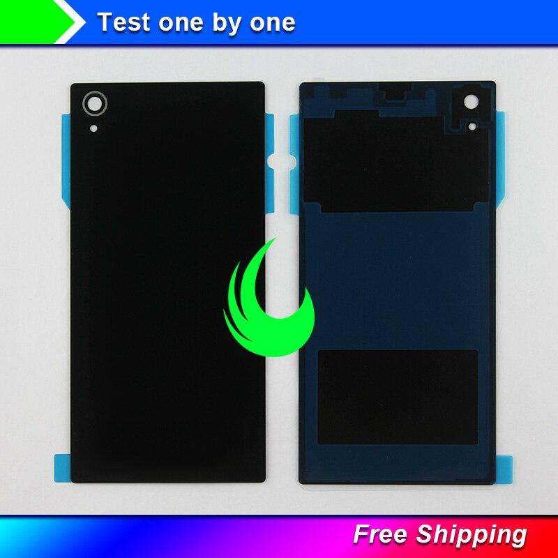 """Cubierta posterior de la batería del cristal de 5 """"para Sony Xperia Z1 L39H reemplazo de la carcasa de la puerta trasera C6903 C6902 para Sony Z1 con la pista adhesiva w"""