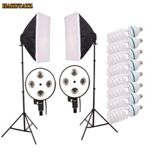 Photo Studio Kit Photography Lighting Kit Studio Light Soft Box 8 PCS E27 Lamp holder 190MM Light Stand for Camera Photo