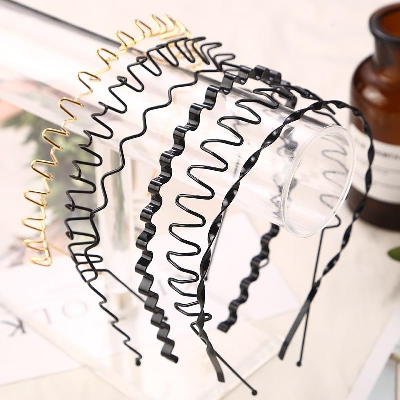 1 banda para el pelo Unisex en color negro/dorado para hombre y mujer