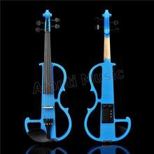 Violon électrique Afanti Music 4/4 avec étui rigide, écouteurs, ligne de connexion (ADK-170)