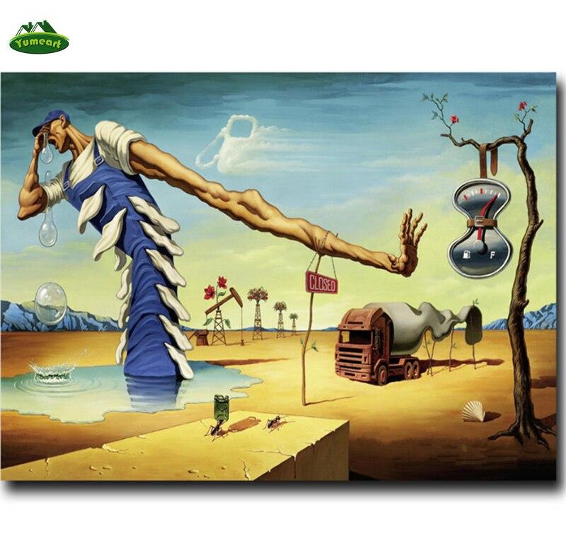 Salvador Dali pintura 5d Diy Diamante Kits de Pintura Abstrata Imagem Diamante Bordado Mosaico Pintura Colado Ponto Cruz Casa Decora