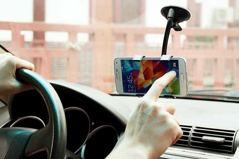 Uniwersalny uchwyt samochodowy uchwyt na telefon komórkowy dla iphone 6 6 s plus se obsługi stoiska dla samsung elastyczny uchwyt telefonu dla sony 4