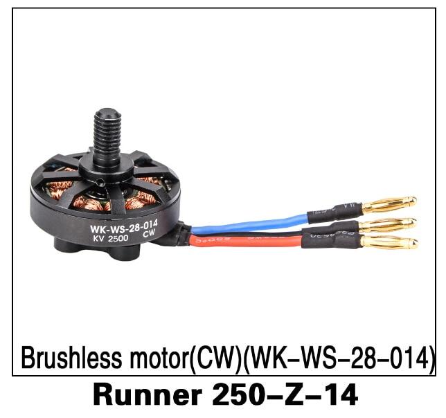 Repuestos originales Walkera Runner 250 2500 KV CW Motor sin escobillas (WK-WS-28-014) Runner 250-Z-14