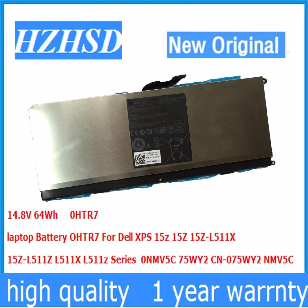 14.8V 64Wh New Original OHTR7 laptop Battery For Dell XPS 15z 15Z 15Z-L511X 15Z-L511Z L511X L511z 0N