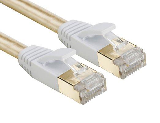 Cat 7 RJ45 apantallado de cobre puro LAN Cable de red Ethernet...