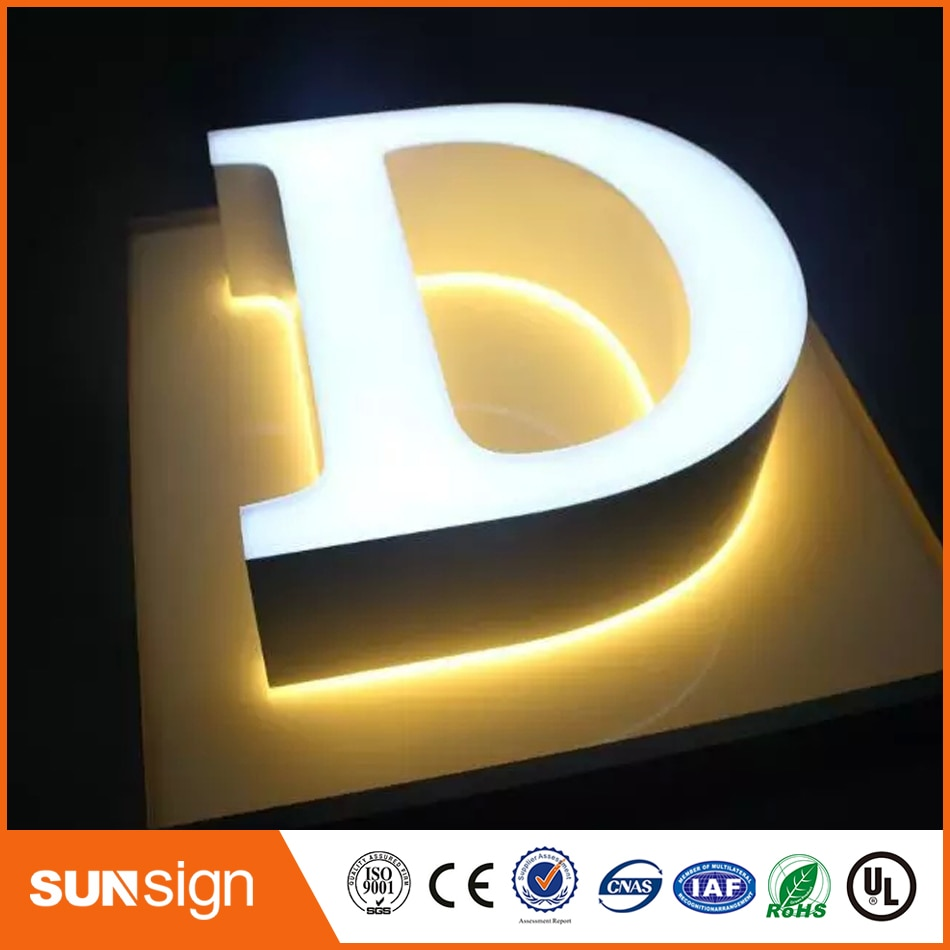 NEW ARRIVAL acrylic double faces led metal sign letter