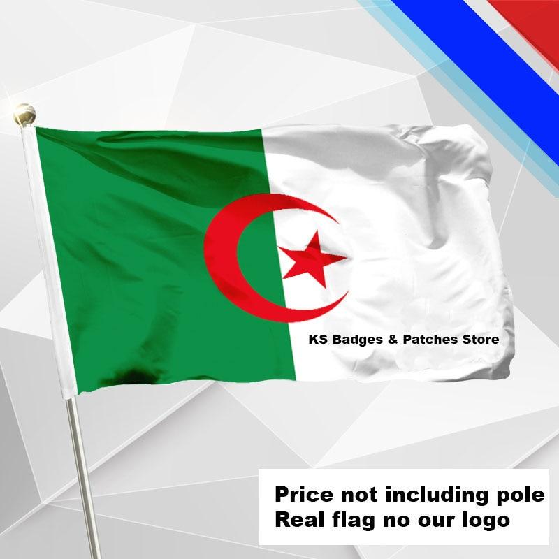 Argélia bandeira voando #4 144x96 (3x5ft) #2 1 288x192 #240x160 #192x128 #5 96 3x64 #6 60x40 #7 30x20 KS-0002-C
