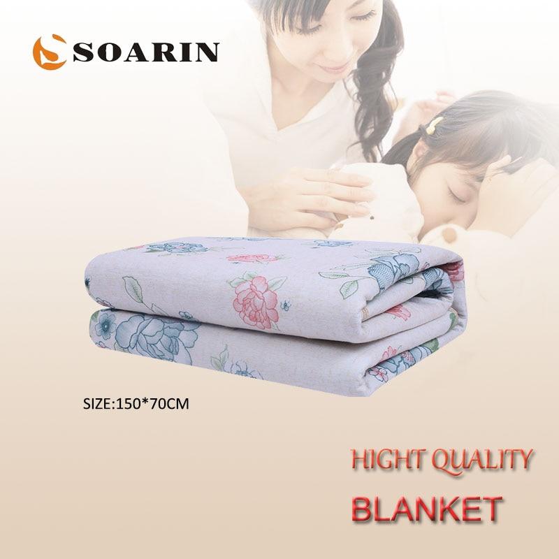 SOARIN-Manta eléctrica de franela para cama, Manta eléctrica de calefacción eléctrica de...