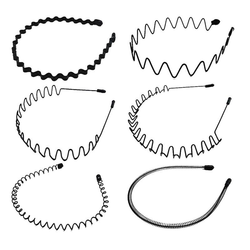 6 uds aro pelo ondulado común Metal Simple pelo aros accesorios para el cabello para mujeres niñas diadema ola primavera pelo