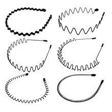 6 pièces cheveux ondulés cerceau commun Simple métal cheveux cerceaux accessoires de cheveux pour dames femmes filles bandeau vague printemps bandeau