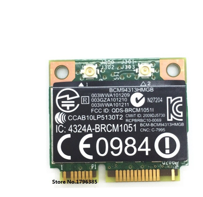 SSEA para BroadCom BCM94313HMGB BCM4313 Wifi + Bluetooth 4,0 Mini PCI-E 300Mbps tarjeta para HP G4 G6 DV6 DV7 CQ43 CQ57 SPS 657325-001