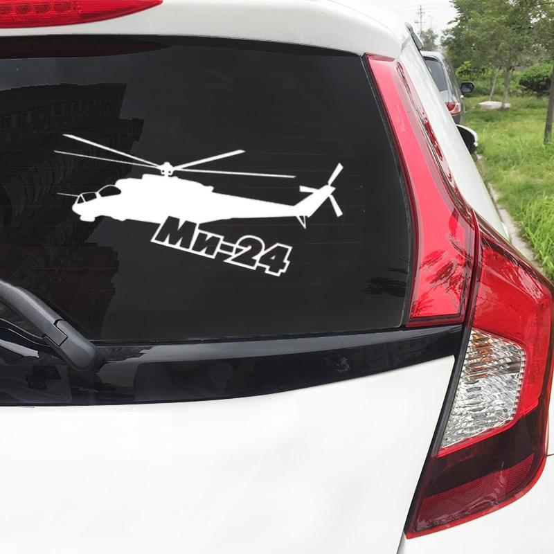 23.4*10 cm de vinil Estilo do Carro etiqueta do carro helicóptero mi-24 carro auto adesivos EY-159