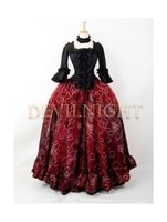 red and black victorian ball gowns