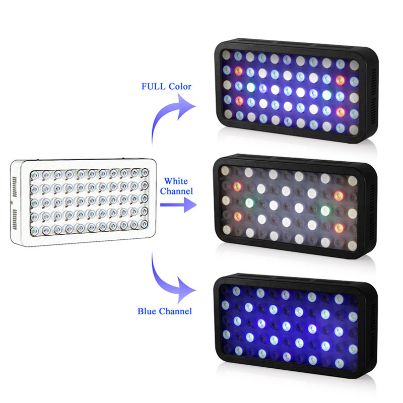 LED Aquarium Light Bluetooth Control 165W Dimmable Fish Tank LED Full Spectrum Lighting For Fish Freshwater and Saltwater Coral enlarge