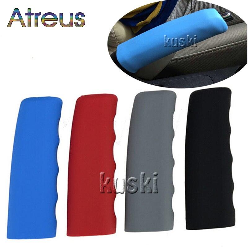 Atreus1pcs Silikon non-slip auto hand brems Abdeckung für Abarth Fiat 500 BMW E60 E36 E34 Mercedes Benz W204 volvo XC90 V70