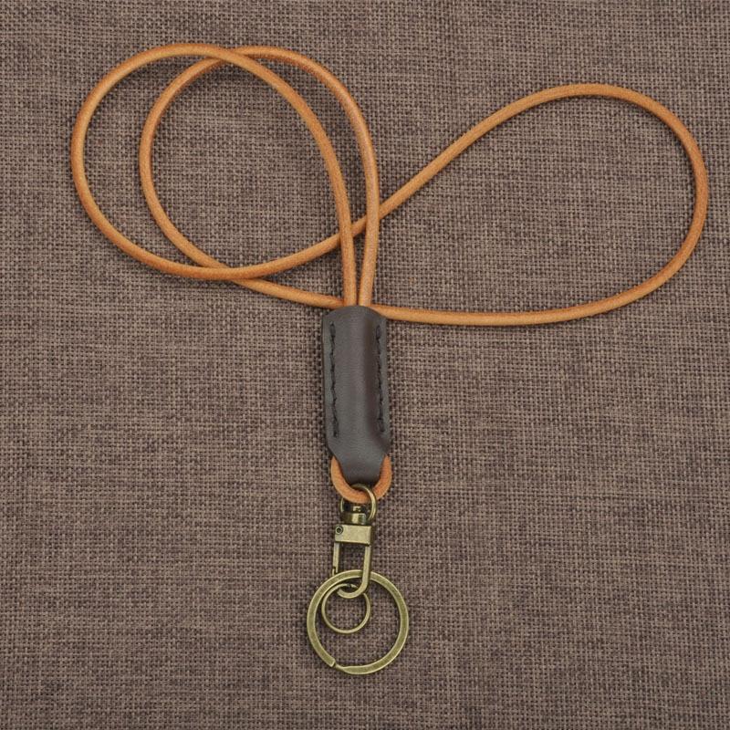 Correas de cuello de cordón de Cuero Simple correas de teléfono móvil etiquetas de cuerda correa de cuello cordones para llaves Tarjeta de Identificación paso gimnasio lazo de cuerda para colgar