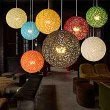 Ball stil Europäischen Mode farbenfrohes esszimmer Licht Ländlichen Anhänger Licht Wohnzimmer Schlafzimmer zu hause mode dekoration