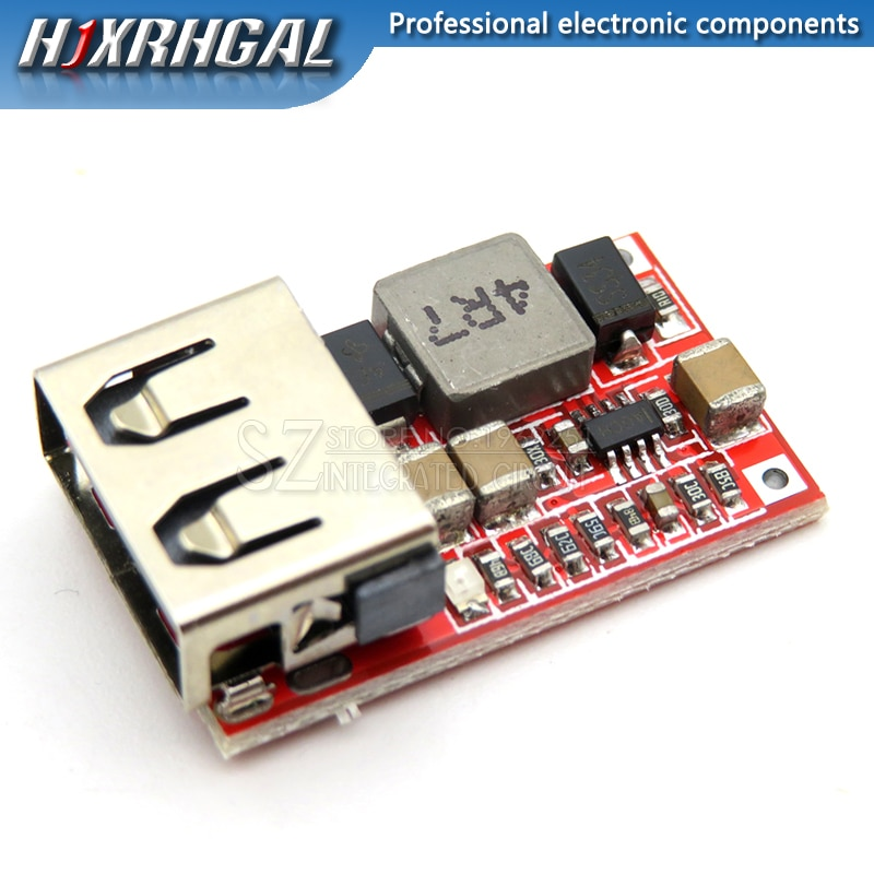 1 piezas 6-24V 12V 12 V/24 V a 5V 3A USB de coche cargador para DC convertidor reductor 12v 5v módulo de fuente de alimentación