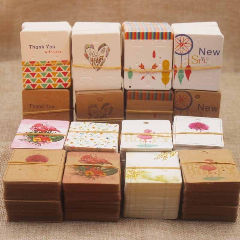 Zerong cartão de embalagem para brincos, etiquetas multi estilo da etiqueta do porta-brincos/dreamcatcher/cor completa impressão do brinco 100 pc/lote