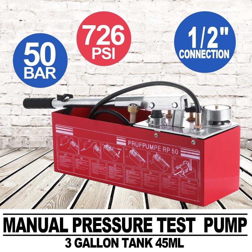 5000kpa teste balde encanamento hidrostática bomba de pressão 12l gás/água