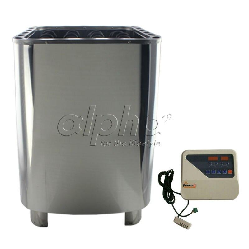 Calentador de sauna shipping12KW380-415V 50 HZ con controlador DIGITAL, las etiquetas y cucharas de sauna estándar CE