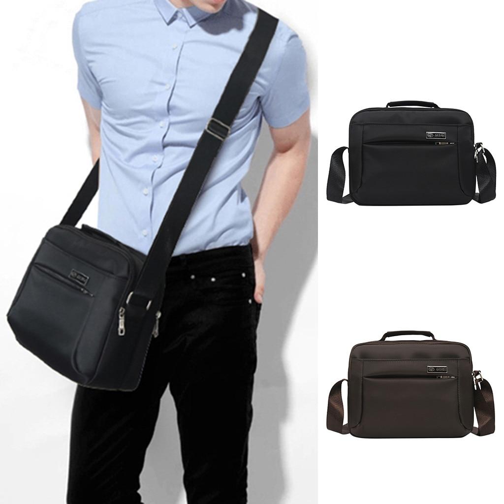 Maletín de hombre de moda Casual de Color sólido de negocios bolso de hombro bolsas de mensajero al aire libre