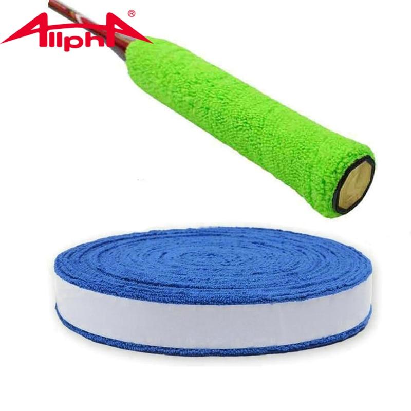 Toalla de algodón para tenis Allpha de 35mm, palo de agarre cómodo y suave para tenis/raqueta de bádminton A6