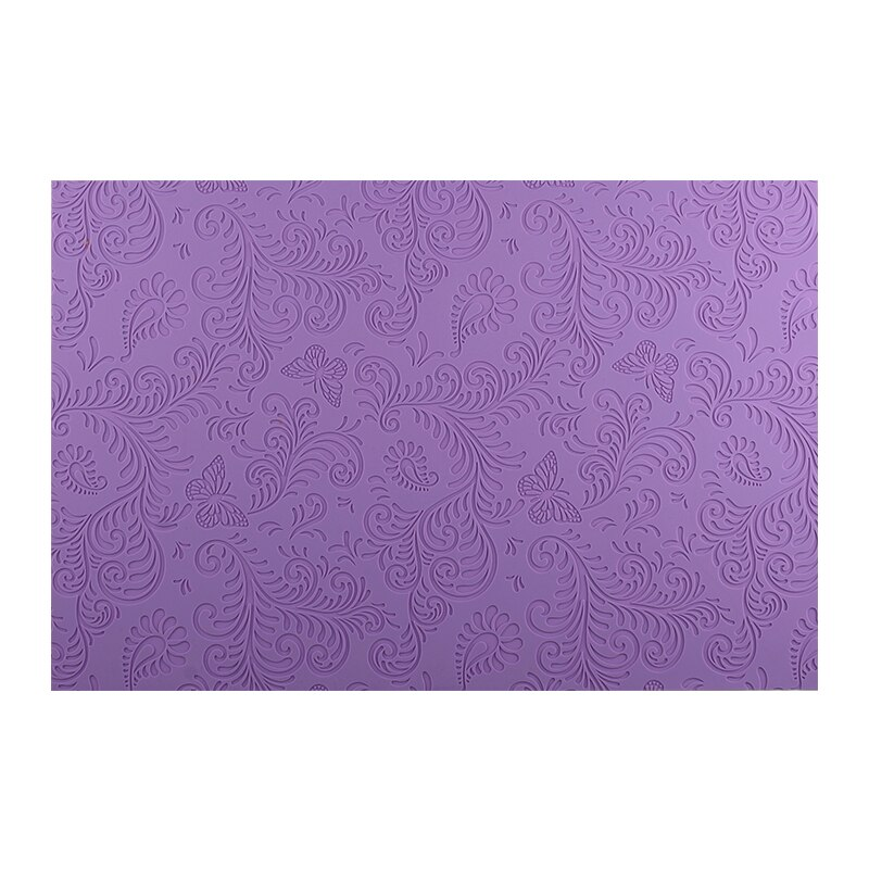 Molde de Chocolate de gran tamaño para hornear encaje espolvoreado, alfombrilla de silicona púrpura, moldes de Fondant, herramientas para decoración de pasteles DIY