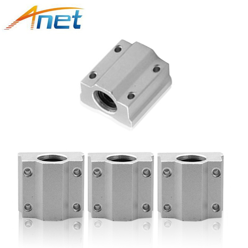 Anet 3D Printer Part 5PCS/lot  SC8UU SCS8UU 8mm Motion Ball Bearing slider Block Bushing Linear Shaft 3D Printer Part