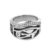 Ojo de Horus egipcio Ra Udjat anillo de acero inoxidable anillo Egipto Faraón ojos motorista hombres mujeres anillo al por mayor SWR0828