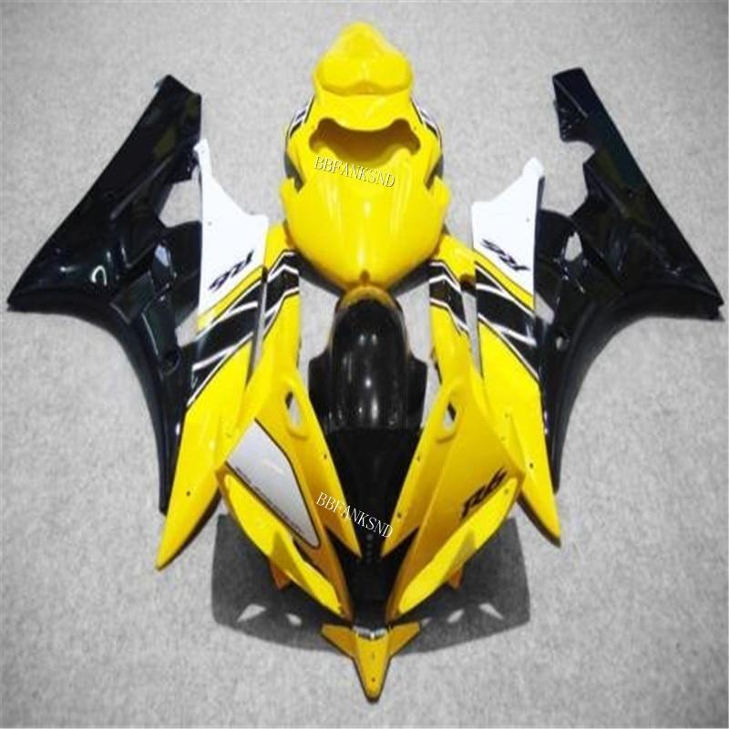 Amarillo negro carenado kits para YAMAHA YZFR6 2006 2007 molde de inyección YZF1000 YZF R6 06 07 ABS de bodyworks