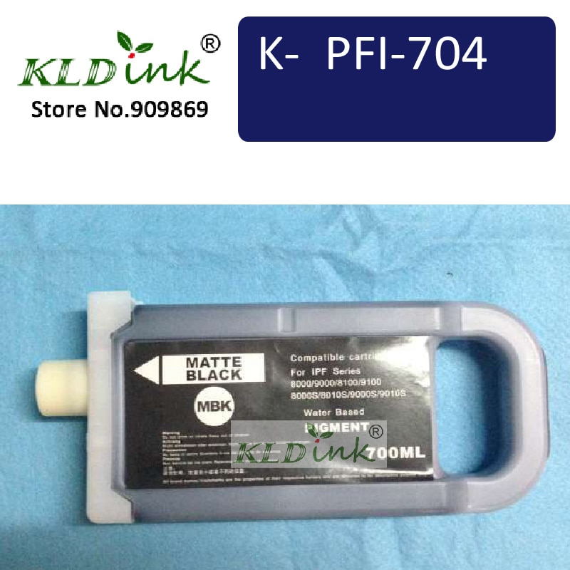 KLDINK - PFI-706MBK ماتي الأسود خرطوشة الحبر (PFI-704 6680B001 الحبر) متوافق مع طابعة ImagePrograf iPF8300 ، iPF8400S ، iPF9400