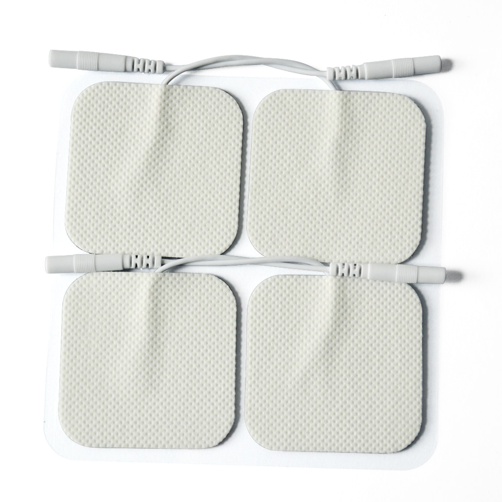 10 Piece 5*5CM 2MM pin Electrode Pads Tens Electrodes for Tens Digital Therapy Machine Massager Nerve Stimulator