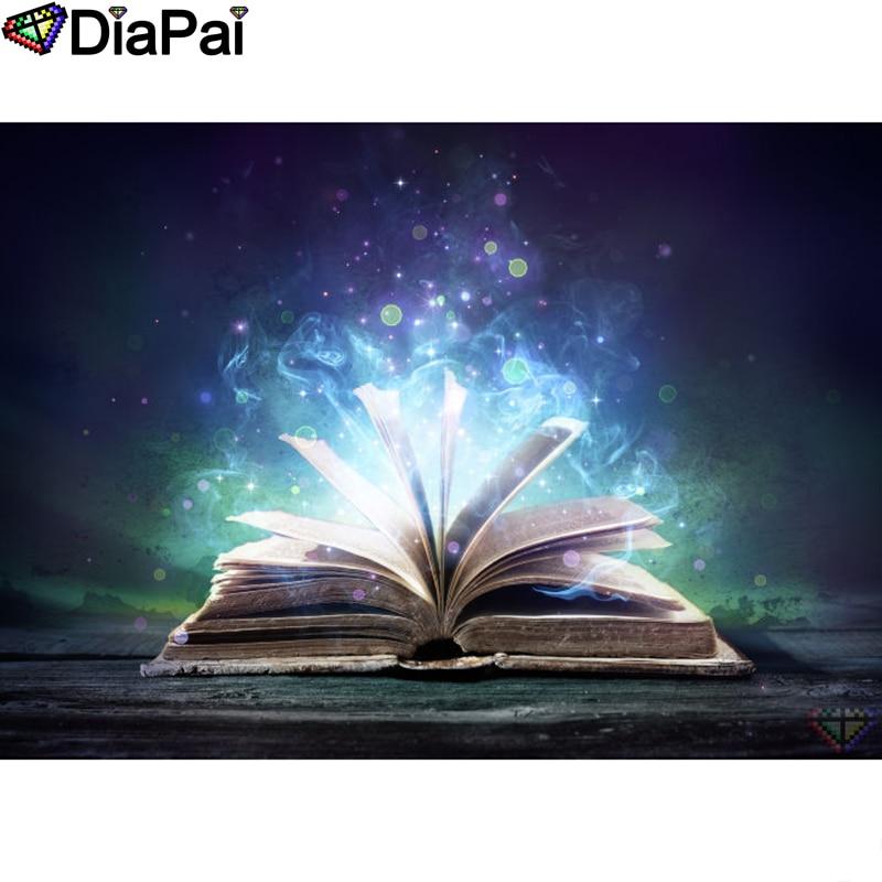 "DIAPAI Diamond Painting 5D DIY 100% Full Square/Round Drill ""Magic book scenery"" Diamond Embroidery Cross Stitch 3D Decor A22045"