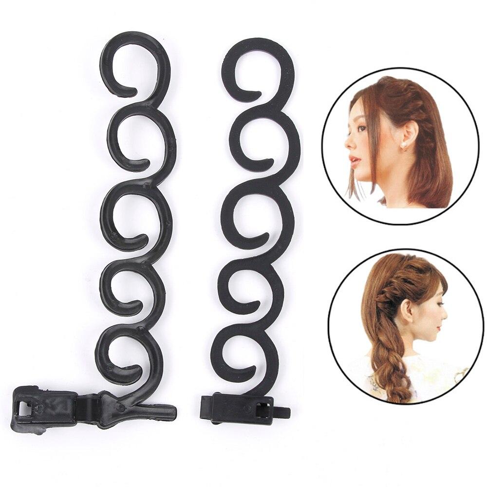Outil de tressage à crochet français   Ensemble de 2 pièces/ensemble pour tresser les cheveux, accessoires de coiffage bricolage pour femmes