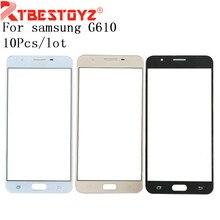 RTBESTOYZ 10 PCS/Lot pour Samsung Galaxy J7 Prime G610 On7 2016 verre extérieur avant pour remplacement de panneau de couverture J7Prime